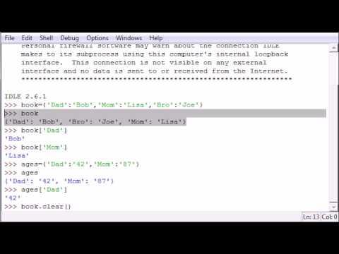 Python Programming Tutorial - 19 - Dictionary