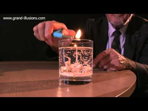 Winter Snowscene Gel Candle