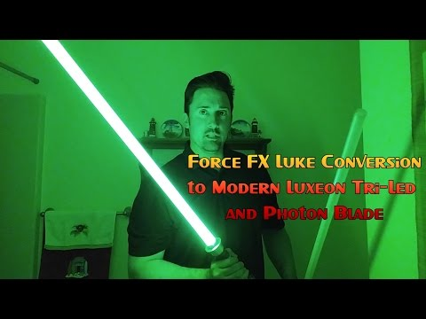 Luke ROTJ Force FX MR Lightsaber Conversion Full Tutorial