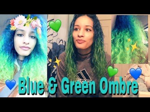Blue & Green OMBRE Hair!!!