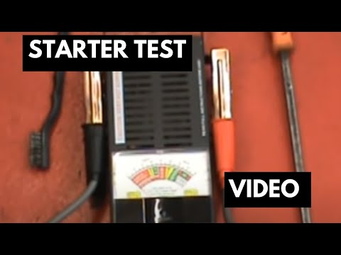 Starter test | Check to see if you have a bad starter