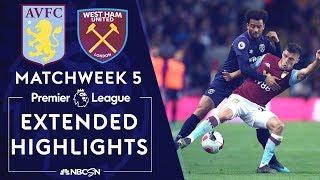 Aston Villa v. West Ham United   PREMIER LEAGUE HIGHLIGHTS   9/16/19   NBC Sports