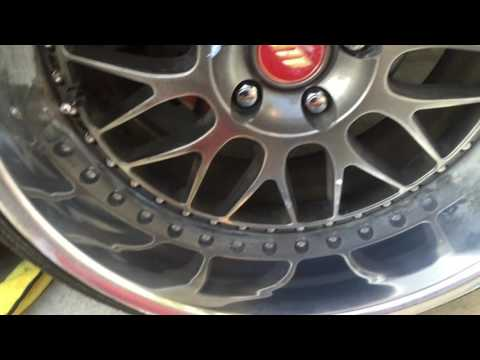 How to repair chemical burns on your three piece aluminum wheel lips