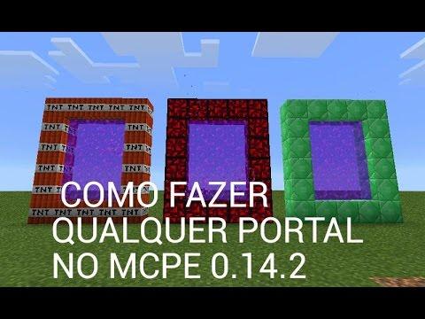 Minecraft PE 0.16.0:COMO FAZER QUALQUER PORTAL