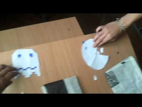 Paper Pac-Man Kick Ghost ass homemade