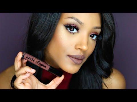 NEW!!! NYX Lingerie Liquid Lipstick Swatches