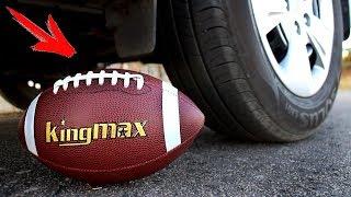 EXPERIMENT: CAR VS AMERICAN FOOTBALL BALL