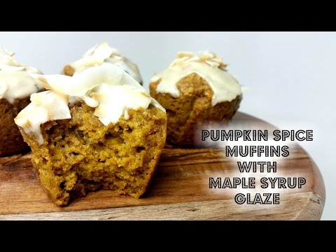 PUMPKIN SPICE MUFFINS with MAPLE SYRUP GLAZE - CookingwithKarma