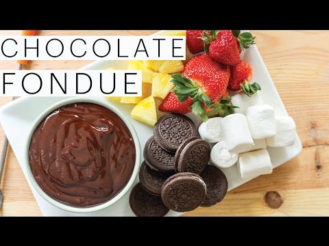 Valentine's Day Dessert   Vegan Chocolate Fondue   Chocolate Dipped Strawberries   The Edgy Veg