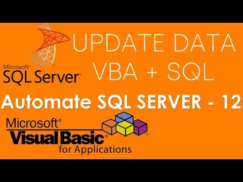 VBA and SQL Server - Delete data in SQL Server Database using VBA & SQL Command. Part-12