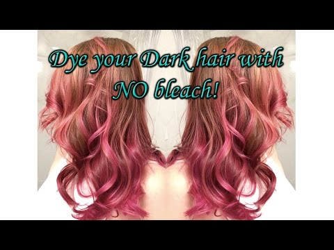 How to Dye Your Dark Hair Purple/Pink *NO Bleach*