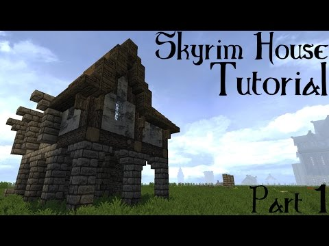 Minecraft Skyrim/Solitude Building Tutorial part 1