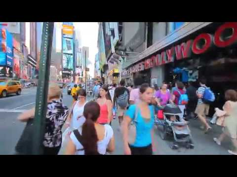 New york city time square tour and travel walk down 2016 YouTube