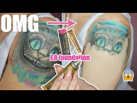 DERMACOL EXTREME | COVER YOUR TATTOO WITH £8 FOUNDATION!! INSANE COVERAGE