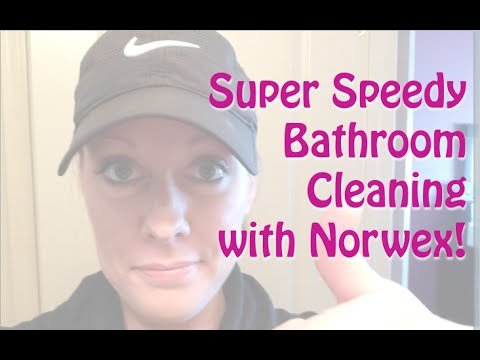 Speedy Bathroom Cleaning with Norwex! Water Only!!