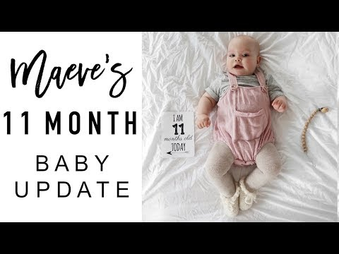 11 Month Old Baby Update | BABY SAYS HELLO