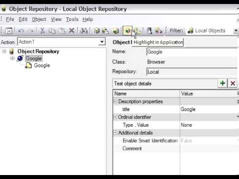 Local and Shared Object Repository in QTP