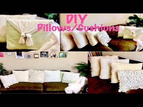 (HINDI) 6 DIY | No Sew/Sew | How to make Basic Throw/ Envelope/ Faux Fur Pillows and Cushion covers