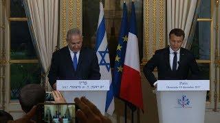 Netanyahu, Macron hold joint news briefing in Paris