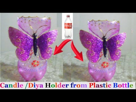 How to make Candle Stand/Diya Stand from plastic bottle |diwali decoration ideas |Best out  Of Waste