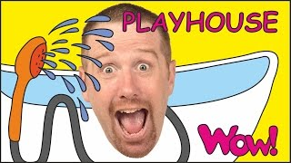 Playhouse for Children + MORE Short English Stories for Kids | Steve and Maggie from Wow English TV