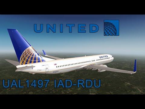 Prepar3d v3.4 United Airlines 1497 Washington D.C. - Raleigh