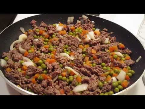 Cooking with ground-beef and veggies