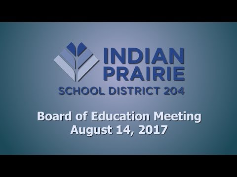 School Board Meeting: 08/14/2017