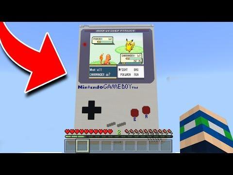 WORKING GAMEBOY in Minecraft! NO MODS! (Pocket Edition, Xbox, PC)