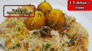 Simple Egg Biryani Recipe in Hindi | अंडा बिरयानी | Golden Nest Biryani Recipe | My Kitchen My Dish