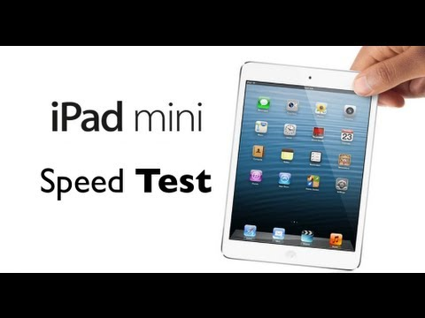 iPad Mini Speed Test