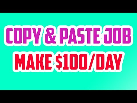 HOW TO MAKE $100 IN 1 HOUR WITH COPY & PASTE for beginners 2018