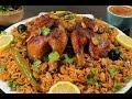 كبسة الدجاج السعودية خطوة بخطوة مع طريقة عمل صلصة الدقوس الشهية