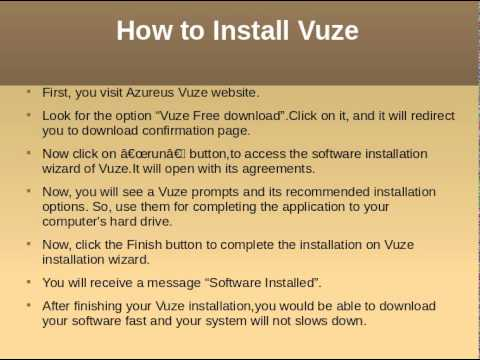 Features of Vuze application