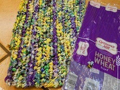 PLYARN Rag Rug from Bread & Bagel Bags