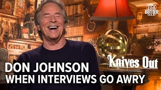 Knives Out: Funny Don Johnson Interview goes Awry | Extra Butter Interview