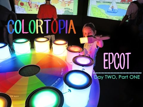 We visit the new COLORTOPIA at EPCOT: Day TWO, Part ONE- Disney's Fort Wilderness Campgrounds Vlog