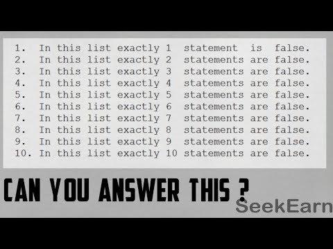 #33 [HINDI] | How many Statements are False ? | Statement Problem