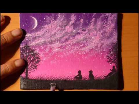 Dibujando Paisaje Nocturno Con Gises Pastel Download Mp4 Full Hd