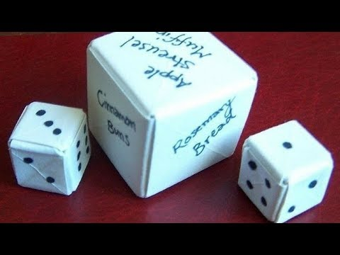how to make a paper dice without tape - Think happy Be happy
