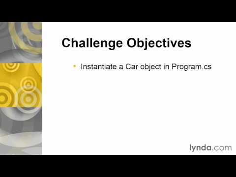 04 07 Challenge Create and instantiate a class
