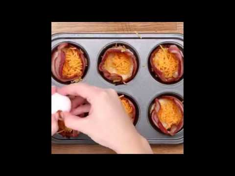How to make Cheesy Bacon Egg Cups?