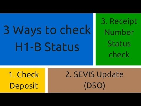 How to Check H1B Visa Status
