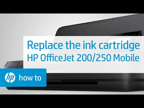Replacing an Ink Cartridge on HP OfficeJet 200 and 250 Mobile Printers