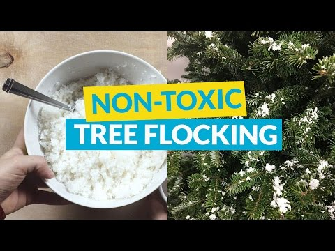 Flock a Christmas Tree the Child / Pet Safe Way