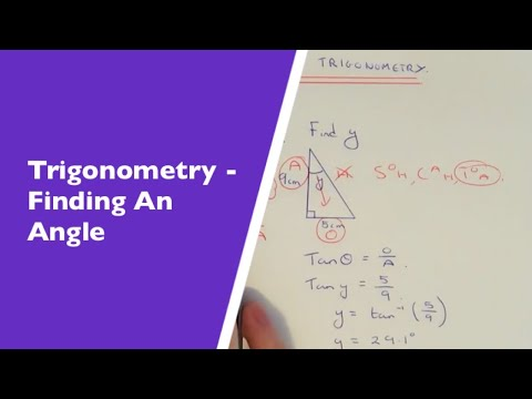 Trigonometry (Angles). How To Use Trig To Work Out An Angle If You Are Given 2 Sides.