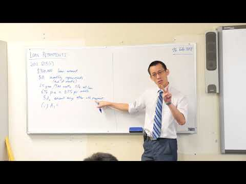Financial Series - Loan Repayments (1 of 3: Unpacking the question)