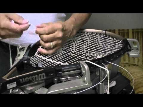 Weaving crosses - tennis racket stringing - higher quality