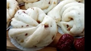 Super Soft & Healthy Jujube Mantou ~ Simple & Healthy breakfast! Red Dates Sweet Steam Bun