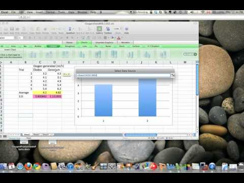 Excel for Mac 2008: make a vertical bar graph